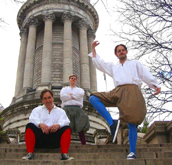 Shakespeare at the Soldiers' and Sailors' Monument.  Photo courtesy of Theater Mania.