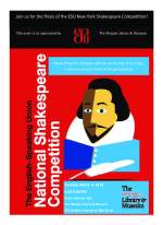2014 NYC Shakespeare Finals Flyer
